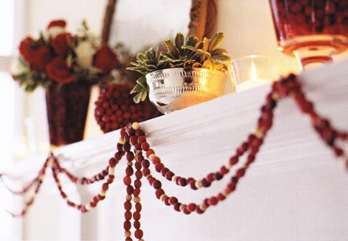 Popcorn Cranberry Tree Decorating