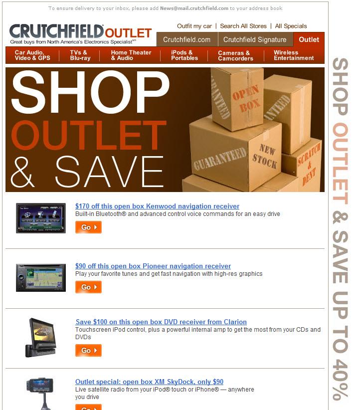 Www crutchfield com outlet / Black friday deals keurig