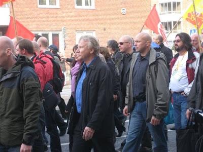 Gahrton omhandertogs vid demonstration