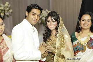 Engagement of Sadiya Jahan Prova and her boy-friend Rajib Hassan