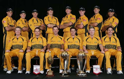 Australian Cricket Team Members List for ICC World Cup Cricket 2011