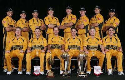 Australian Cricket Team Members List for ICC World Cup Cricket 2011