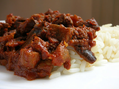 Easily Good Eats: Liver Eggplant in Spicy Tomato Sauce Recipe