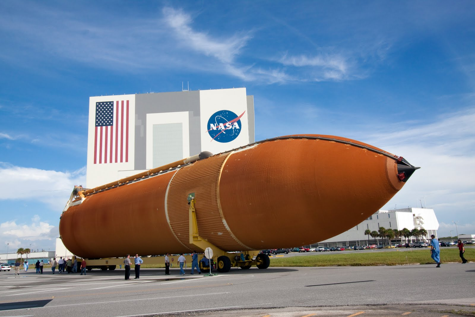 Final External Tank Rolled Into VAB   Nasa Space News