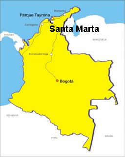 Santa Marta Colombia Mapa.Mapa De Santa Marta Colombia