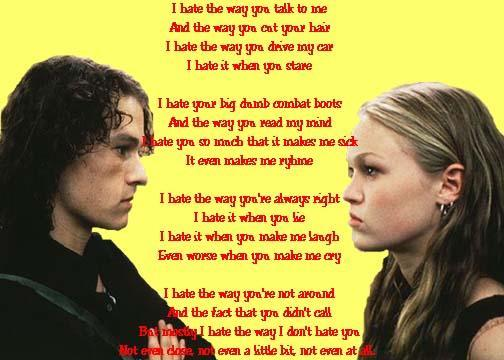 10 Things I Hate About You Sonnet: ClauuDis