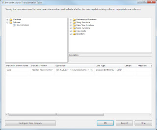 Microsoft SQL Server Integration Services: Create a GUID