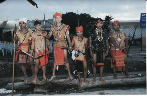 Bidayuh men costume