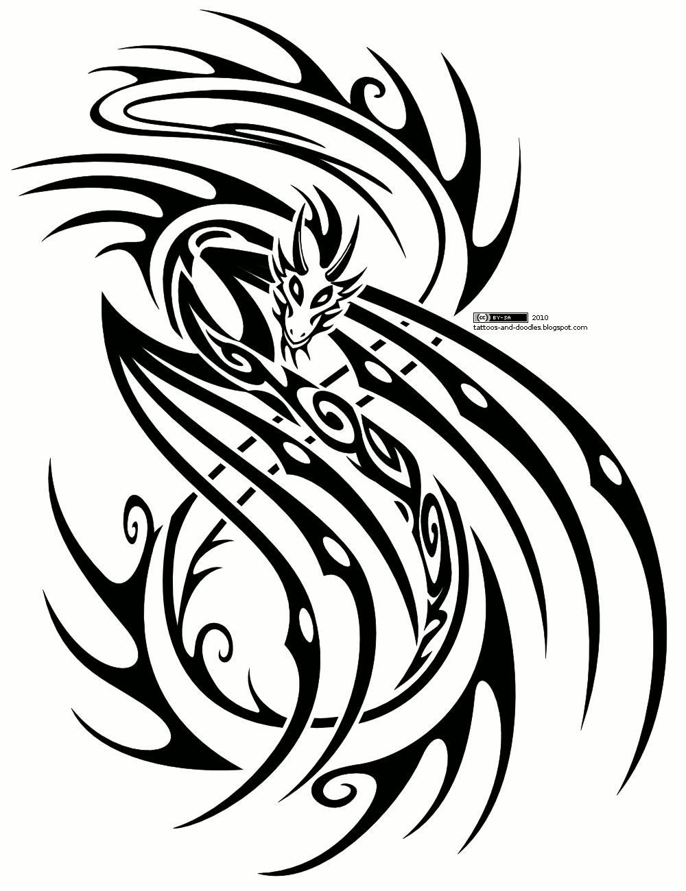 tattoo tribal dragon rore