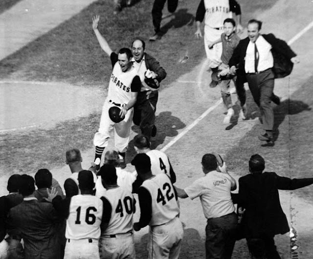 Image result for bill mazeroski hitting home run