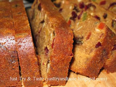 Resep Cake Buah (Fruitcake) JTT