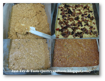 Resep Oatmeal Fruit Bars JTT