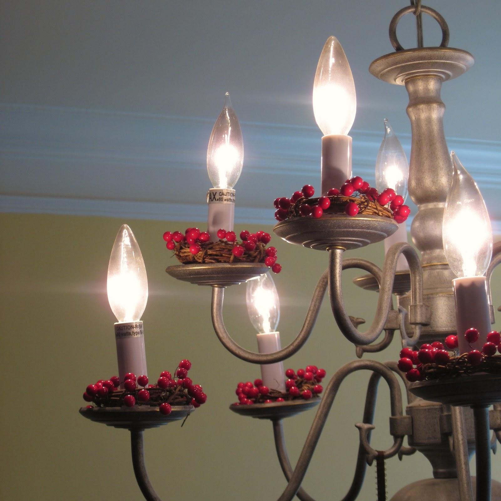Shamble Ramble Diy Chandelier Cranberry Candle Wreaths