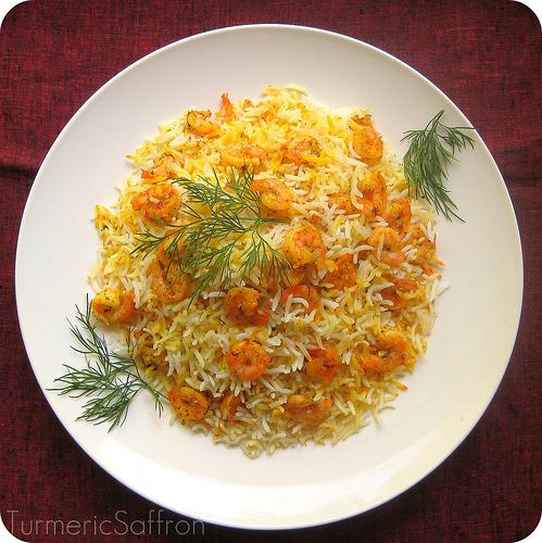 Turmeric saffron maygoo polow khuzestani southern for Ahmads persian cuisine