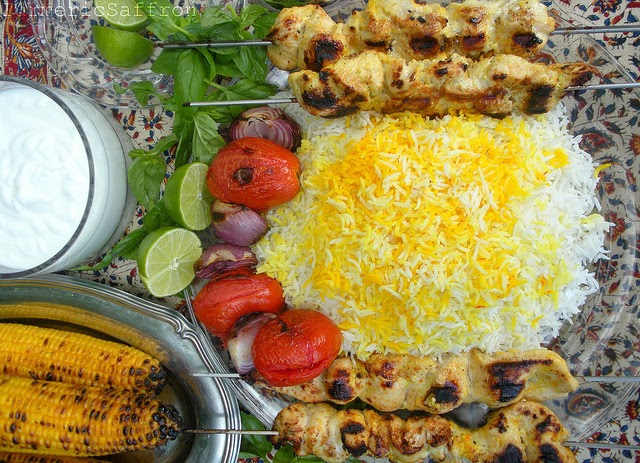 Joojeh Kabab, Persian Grilled Saffron Chicken