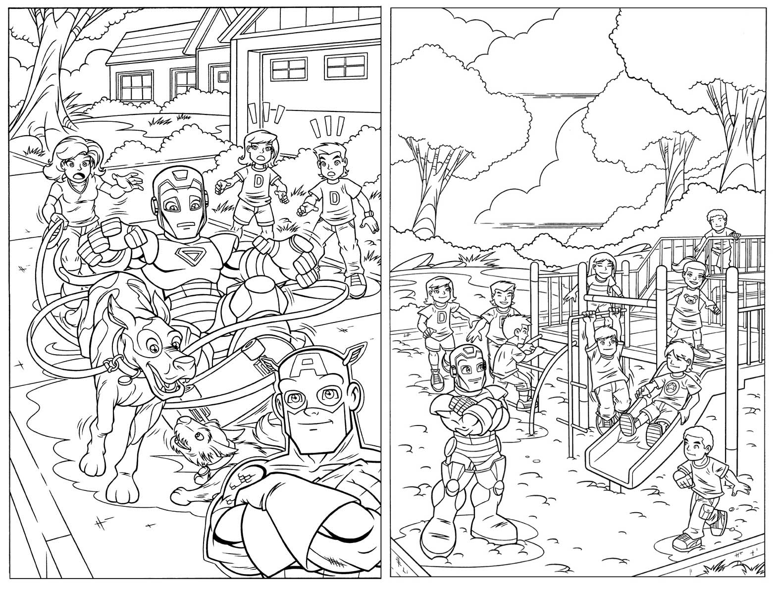 hero squad coloring pages - photo#16