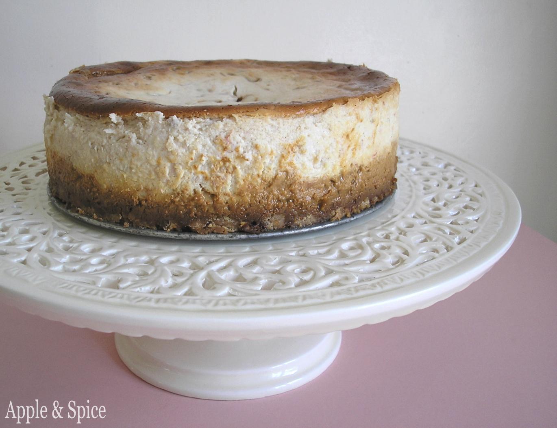 Apple & Spice: Banana & Caramel Cheeseless Yoghurt Cheesecake