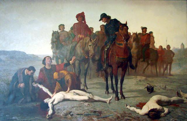 Charles le Téméraire retrouvé après la bataille de Nancy  Peinture à l'huile d'Augustin Feyen-Perrin - 1865  Musée des Beaux-Arts de Nancy