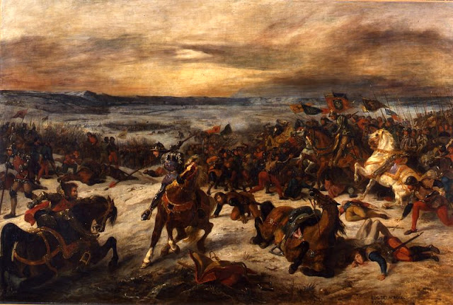 La Bataille de Nancy  Peinture à l'huile d'Eugène Delacroix - 1831  Musée des Beaux-Arts de Nancy