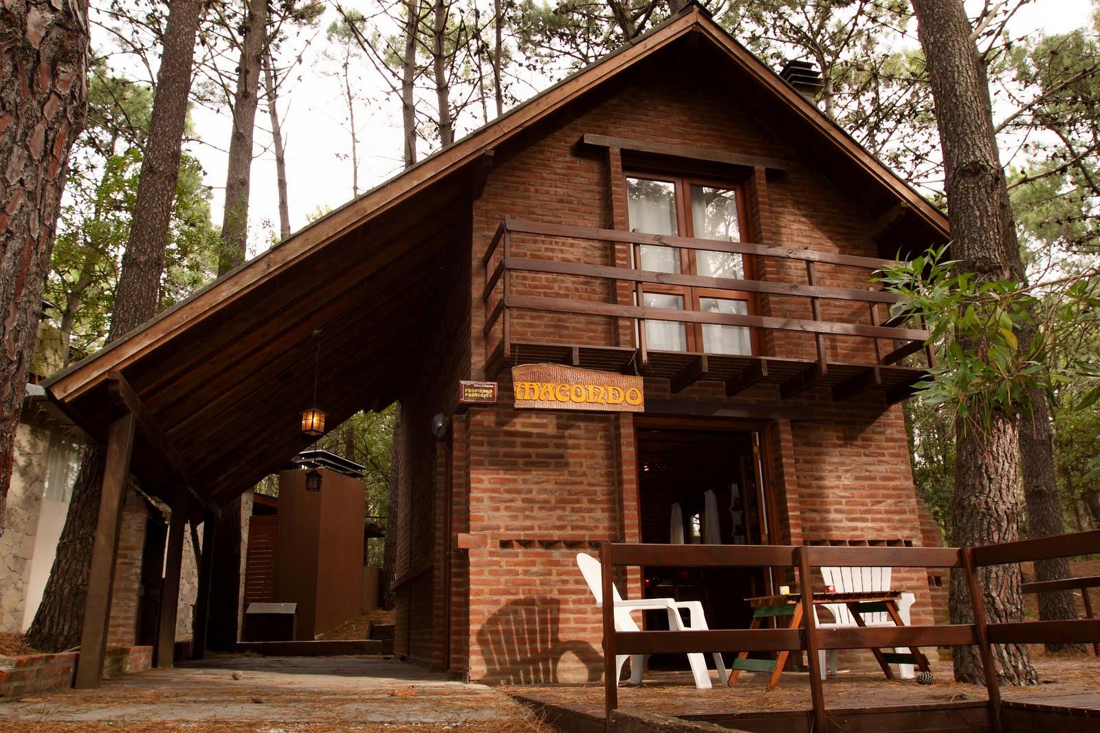 Caba a macondo una caba a en el bosque for Casas rusticas de ladrillo