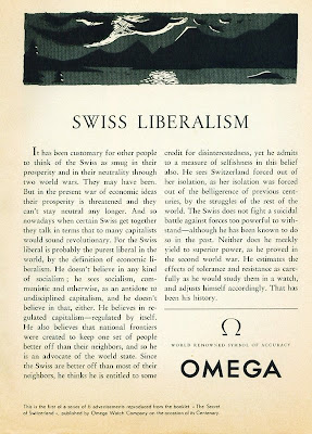 OMega 1950s advertisement