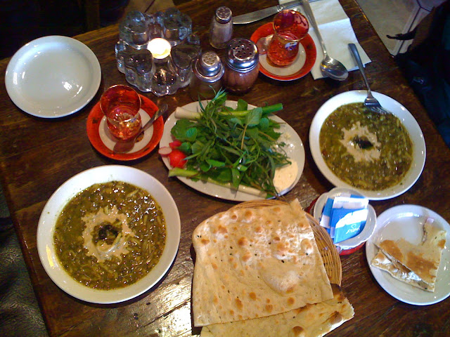 Persian meal in Olympia