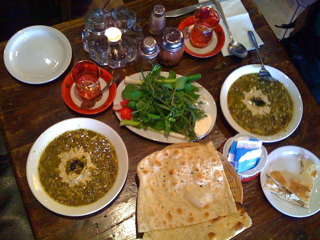 Persian meal in Olympia