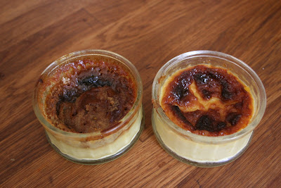 creme brulée for the first time on the Aga