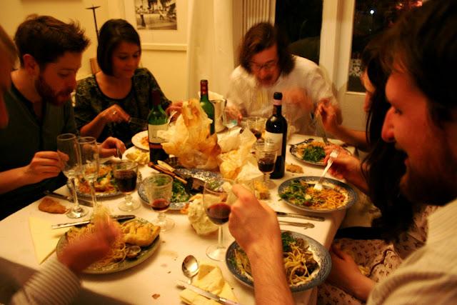 spaghetti vongole al cartoccio, msmarmitelover's supper club