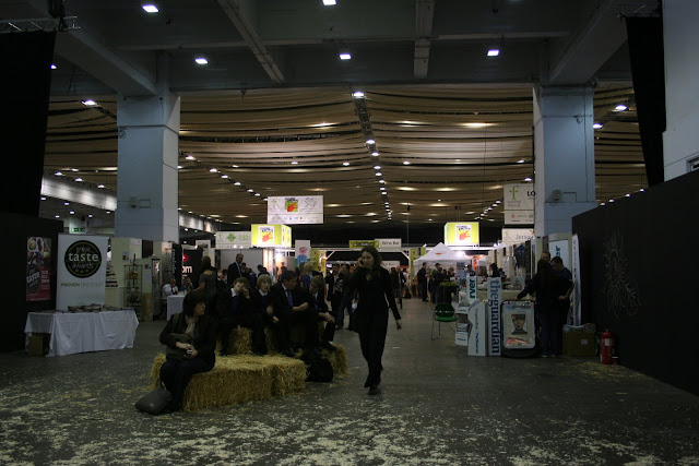 The cavernous air hangar style space in Earls Court