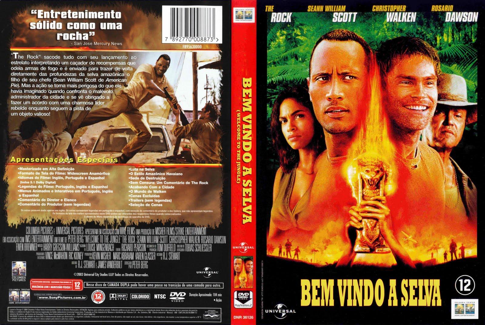 filme bem vindo a selva dvd-r