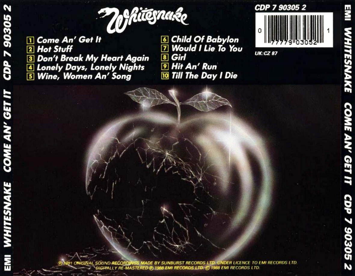 Musicotherapia: Whitesnake-Come An Get It (1981)