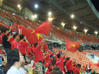 Vietnam fans lend their support