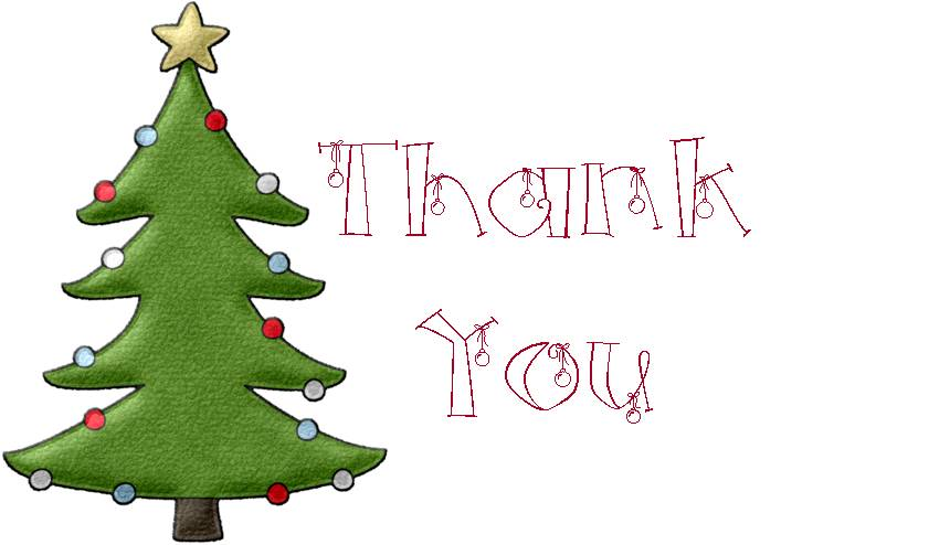 The Blue Hutch Christmas Thank You Notes