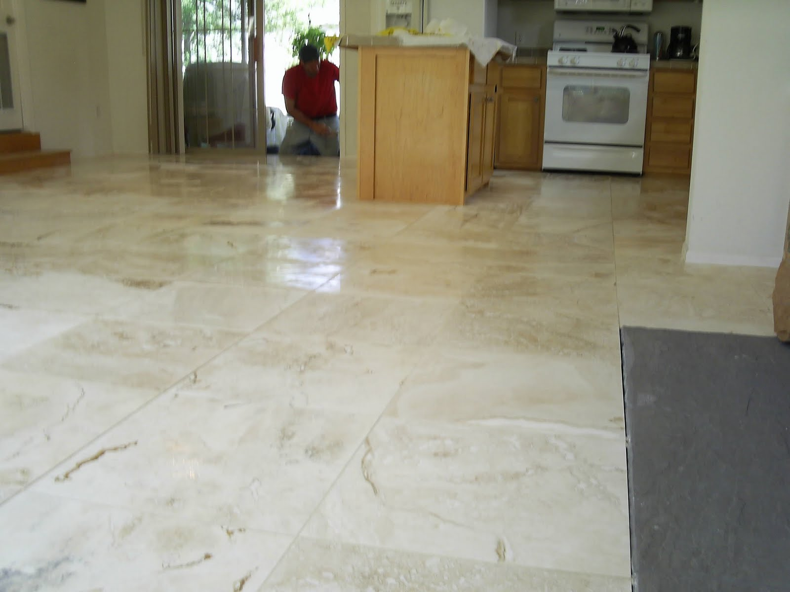 Maloney Tile And Marble Large Format Travertine Install