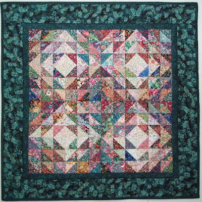 Exuberant Color Quilts Made With Triangles