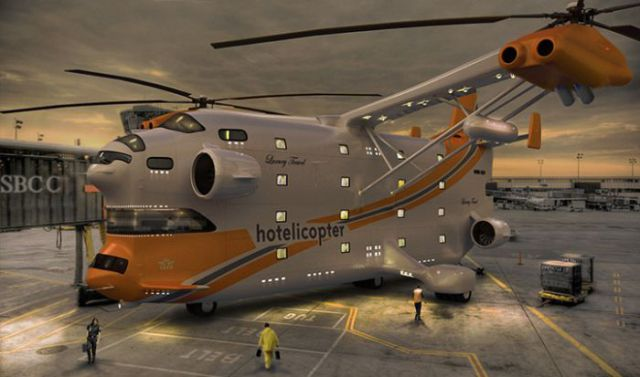 Concept Cool Flying Helicopter Hotel