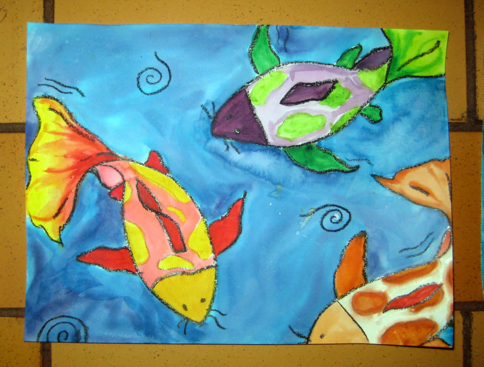 Mrs Art Teacher Asian Art Unit Watercolor Koi