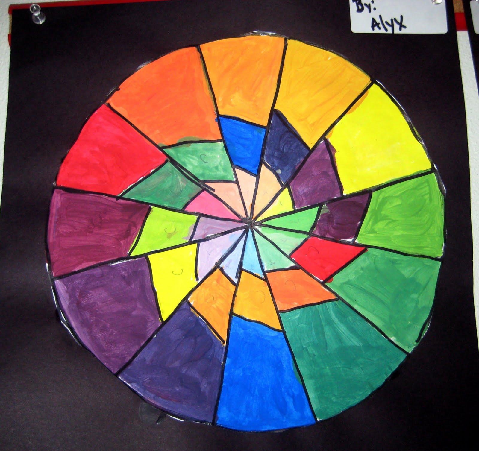 Mrs Art Teacher Complex Color Wheels
