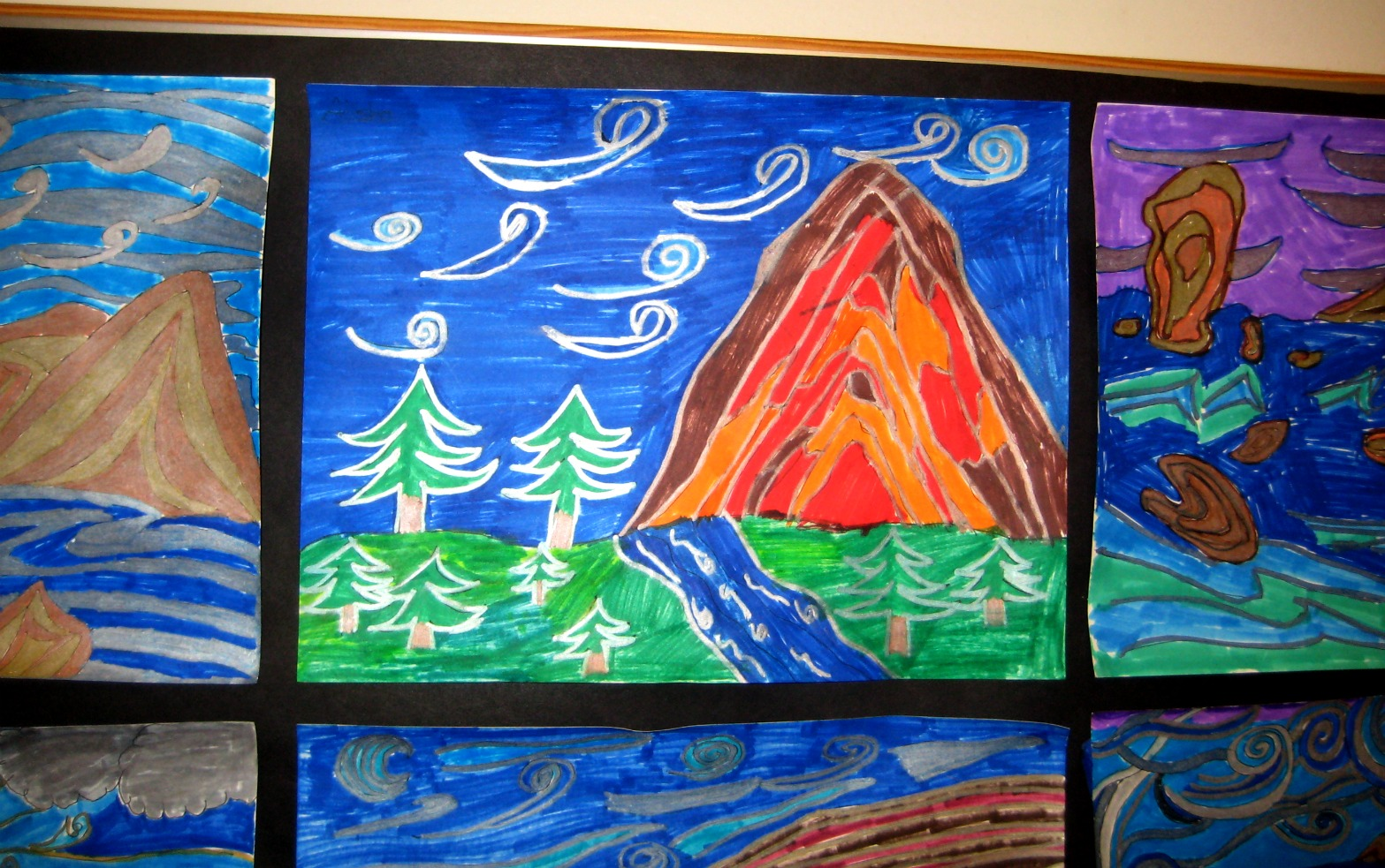 Mrs Art Teacher Rhythm And Movement Landscape