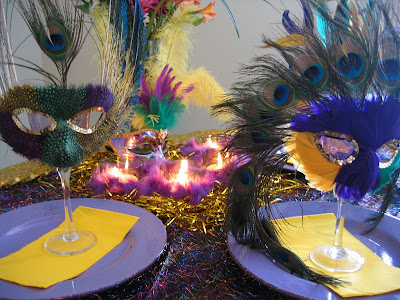 Mardi Gras Table Setting Ideas & Mardi Gras Table Setting Ideas - Oh My Creative
