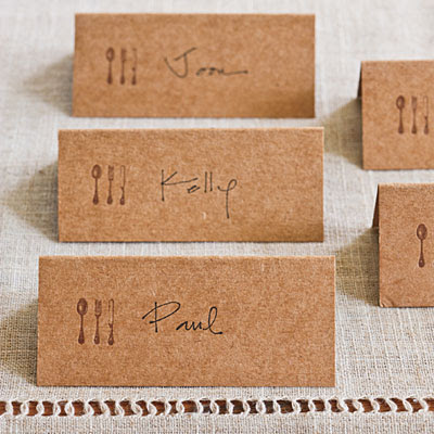 Hand made thanksgiving placecards
