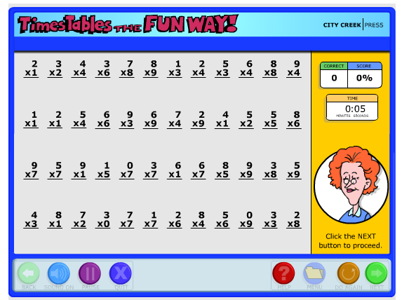 Number Names Worksheets 4 times table test : The McClanahan 7: Times Tables the Fun Way