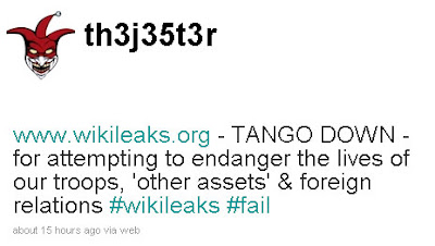 Screenshoot wikileaks di hack oleh th3j35t3r