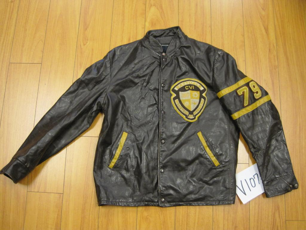 Vintage cafe racer leather jacket