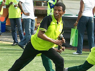Haile Gebrsellasie at the Glo marathon clinic in Lagos/Photo By Olusola Babarinsa