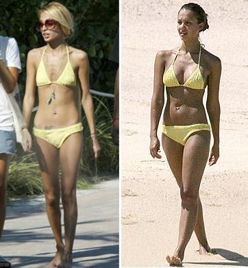 The alba yellow bikini