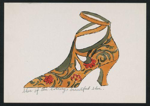 charlotte rossmann art talk andy warhol 39 s shoes. Black Bedroom Furniture Sets. Home Design Ideas