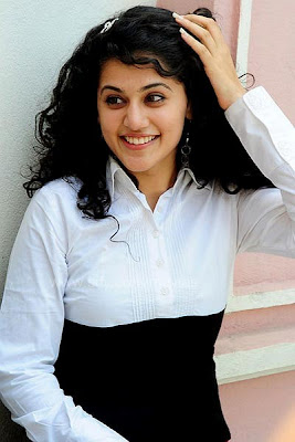 Adukalam Dhanush actress Tapsee Smiling wallpapers
