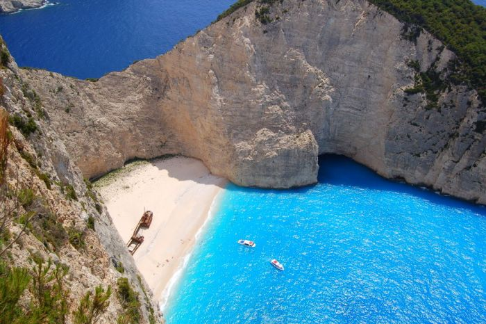 Beautiful Place On Earth Welcome To Navagio Beach Aka Shipwreck Cove Zakynthos Island Greece One Of The Most Places Planet